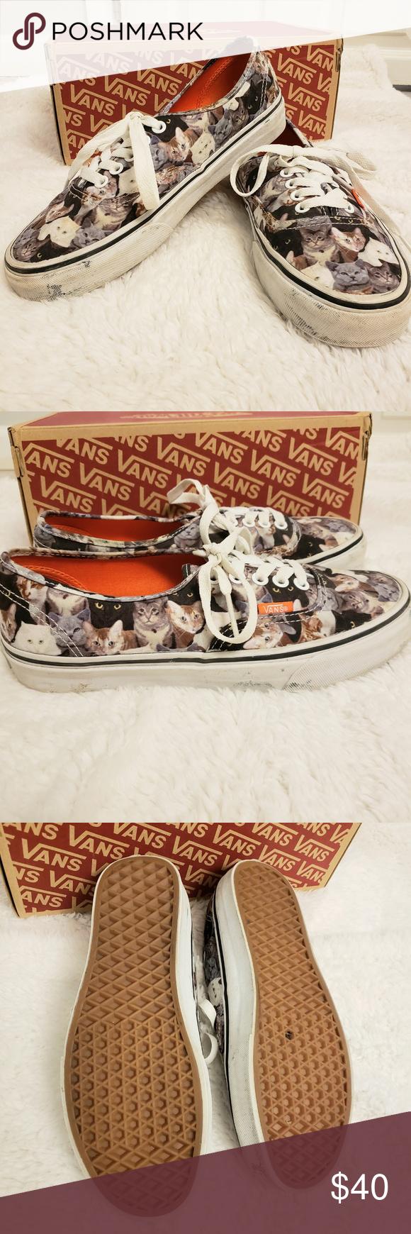 Vans Aspca Collab Cat Print Unisex W8 M6 5 In 2020 Cat Print Vans Womens Shoes Sneakers