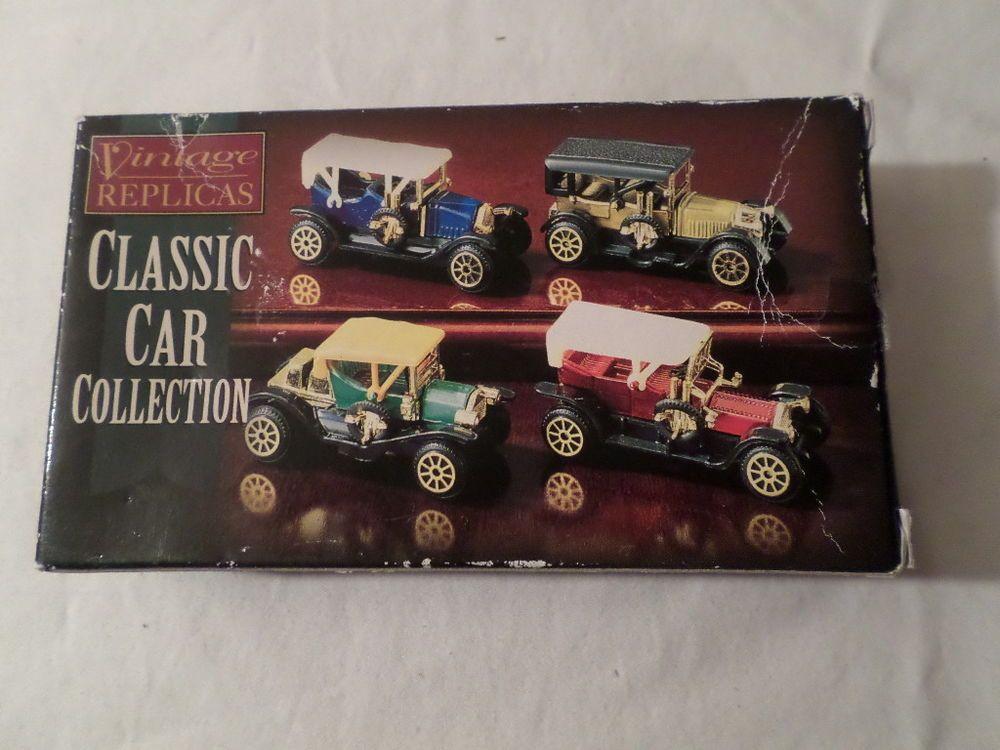 Vintage+Replicas+Car+Collection+4+Cars+total+W/Box+