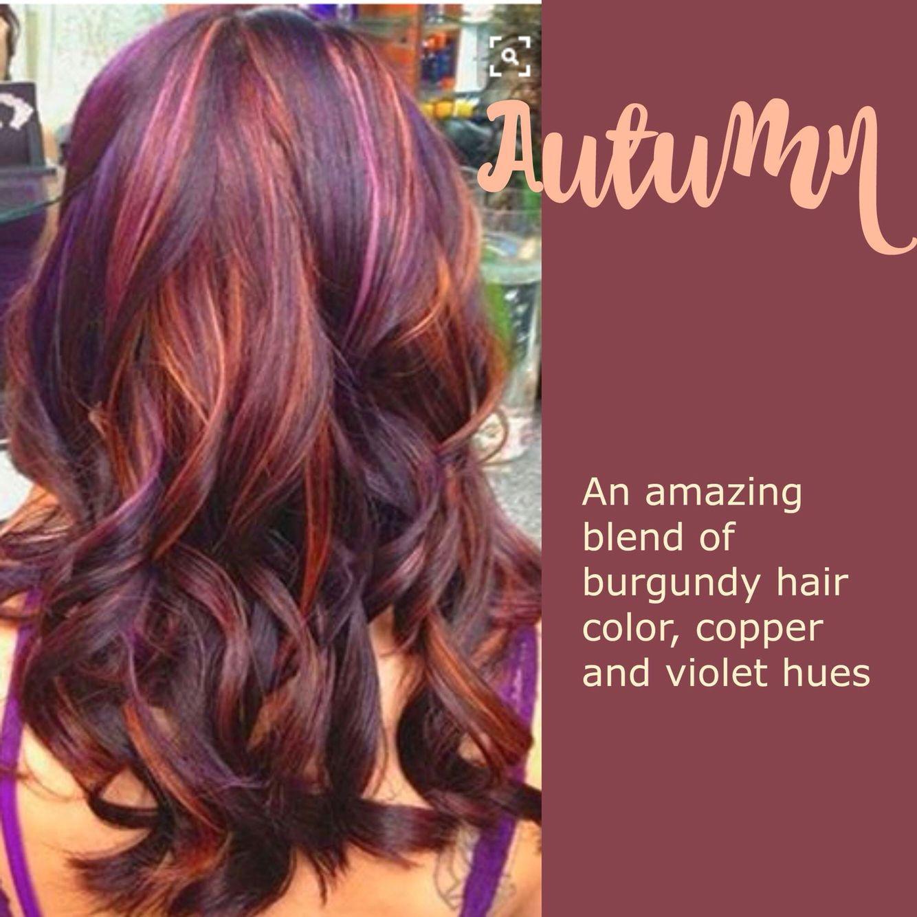 Autumn leaves hair pinterest hair hair styles and violet hair