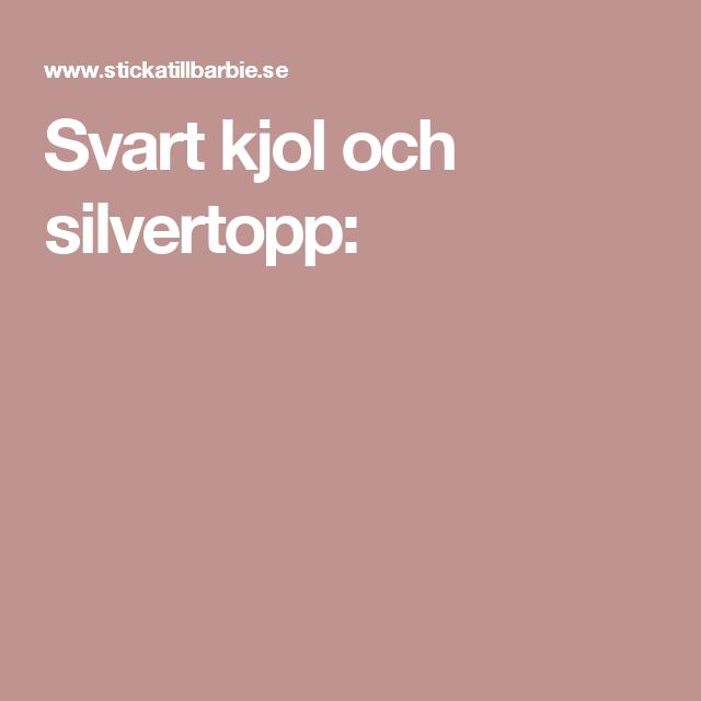 Svart kjol och silvertopp: