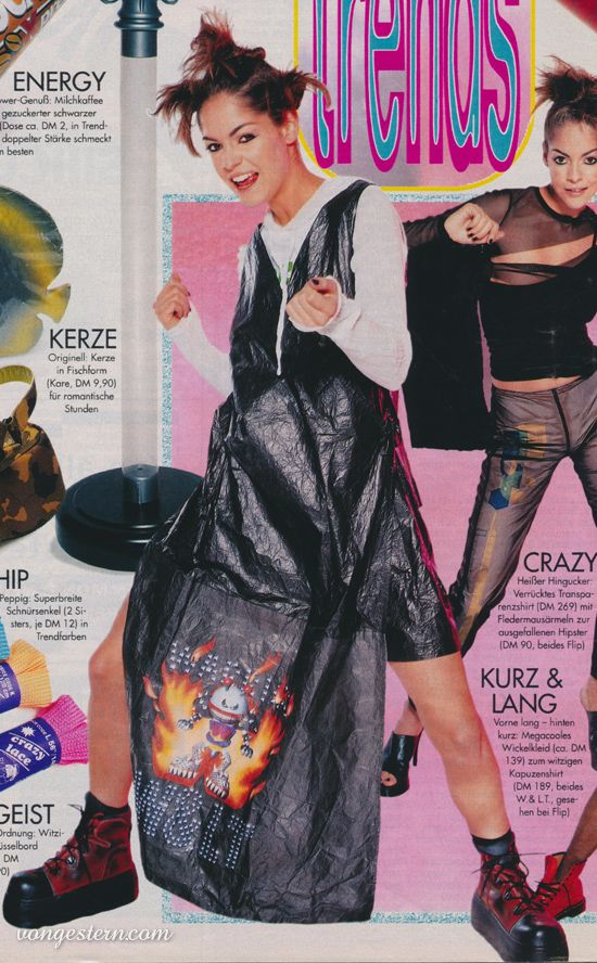 Vongestern Blog Megacooles Wickelkleid 1998 Modestil 2000er Jahre Mode Wickelkleid