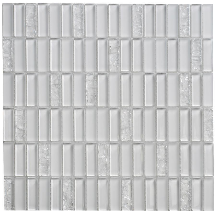 Faber Jayda Crackled Ice Glass Mosaic Wall Tile mon 12 In x