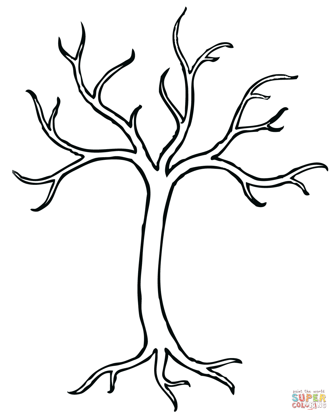 Bare Tree Coloring Page From Trees Leaves Category Select From 27278 Printable Crafts Of Cartoons Nature Animals Tree Coloring Page Bare Tree Tree Crafts