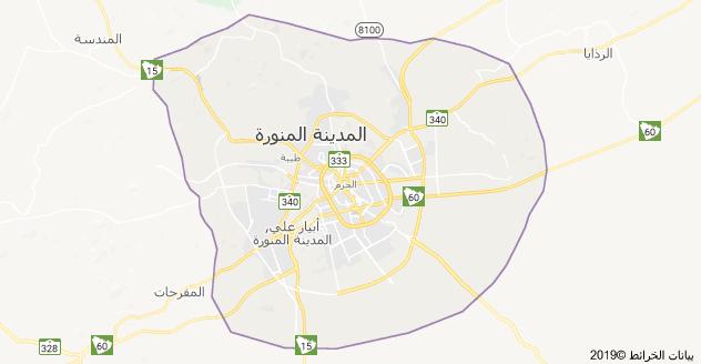 خريطة المدينة المنورة السعودية Map Map Screenshot Art