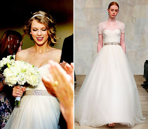 Look By Look Taylor Swift Wears A Reem Acra Wedding Dress In Her