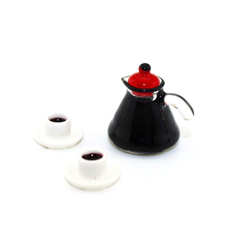 4Pcs Miniature Dollhouse Coffee Cup Kitchen Room Food Drink Home Decoration C