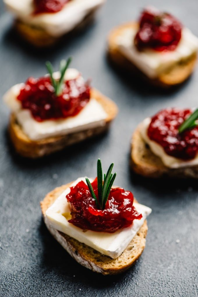 Photo of Cranberry Brie Bites Cocktail Party Appetizer