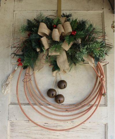 Gypsyfarmgirl New Cowboy Rope Christmas Wreaths Wreaths