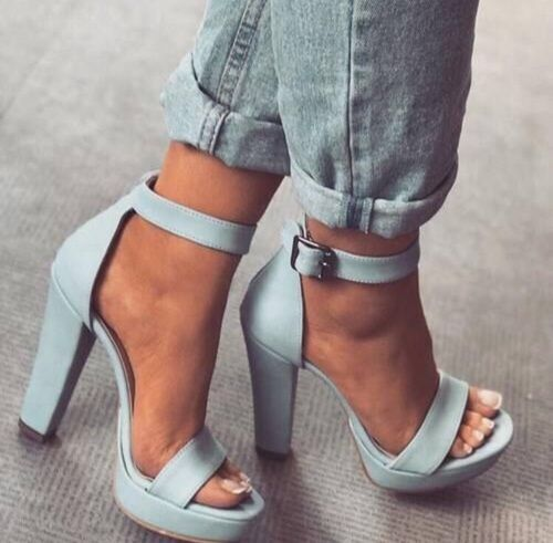Find images and videos about shoes, fashion and blue