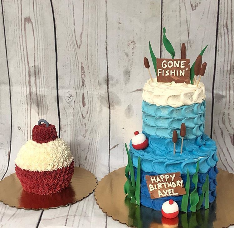 #fishingcake #bigonebirthday #smashcake #fishon #fishingbirthday #cakedecorating #cake #cakesofinstagram #boybirthdayparties
