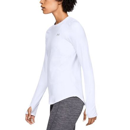 From chilly runs to ice cold days on hill the Under Armour ColdGear Armour Crew Top will have your back. This versatile shirt can be used as a standalone outer layer or as a part of a complex layering system thanks to its 4-way stretch ColdGear fabric, comfortable crew neck style, and moisture wicking qualities.