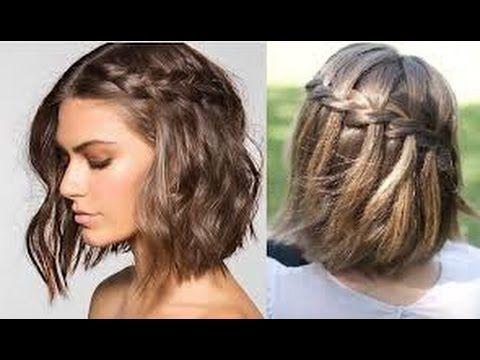 Peinados Faciles y Rapidos para Cabello Corto - Trenzas de Espiga