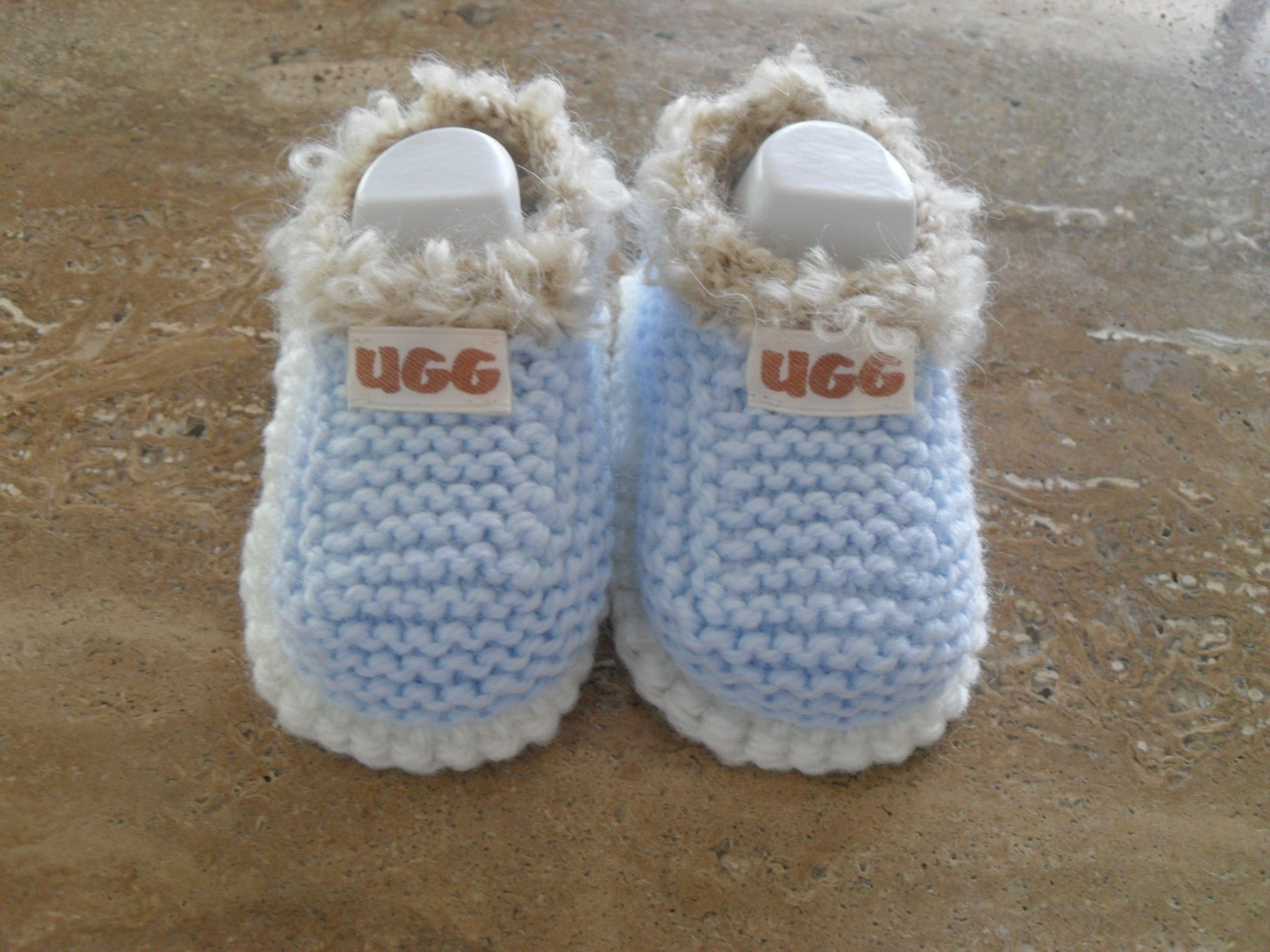 Knitted Baby Boy Shoes Many Colours Ready Made To Go Knitting