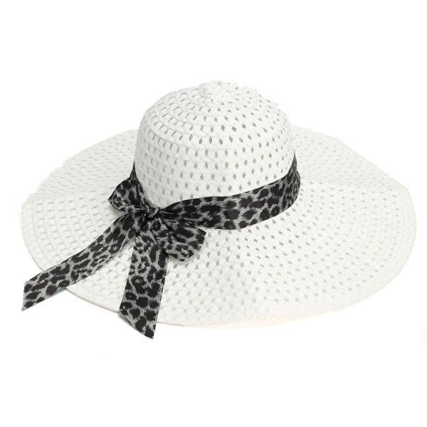 Women Girls Elegant Brim Summer Hollow Beach Sun Straw Floppy Hat Beauty Cap ec9b38a24581