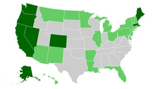 Interactive Map Where Weed Is Legal In The US US States News - Map of us including alaska