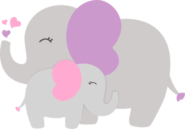 ○••°‿✿⁀Elephants‿✿⁀°••○ | Baby shower niña | Pinterest ...