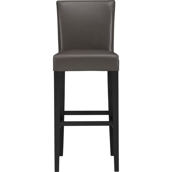 """Lowe Smoke 30"""" Leather Bar Stool  