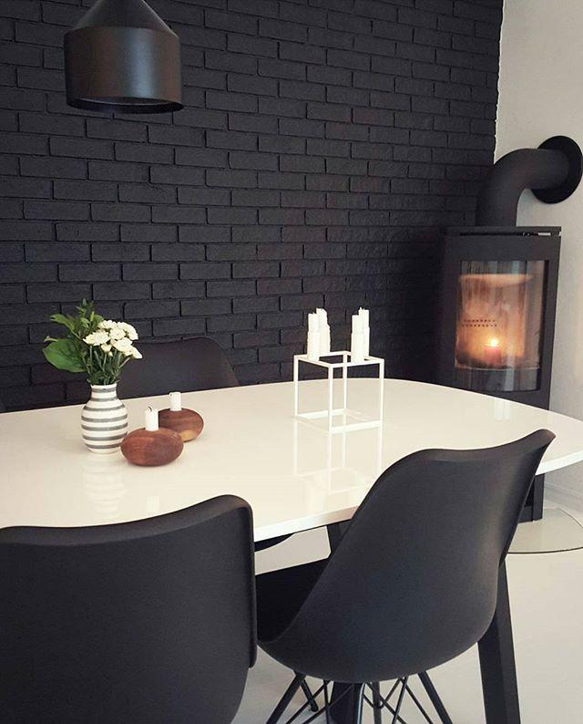 Hoststemning I Heimen Myhome Blackandwhite Kahler Ikea Jotul Jotun Dempetsort Bohus Kubus Habitat Lamp Design Interior Interiordesign