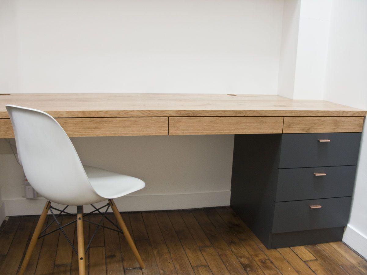 Am nagement d un bureau sur mesure avec rangements for Sur meuble de bureau