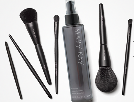 mary kay® brush cleaner keep your brushes looking even
