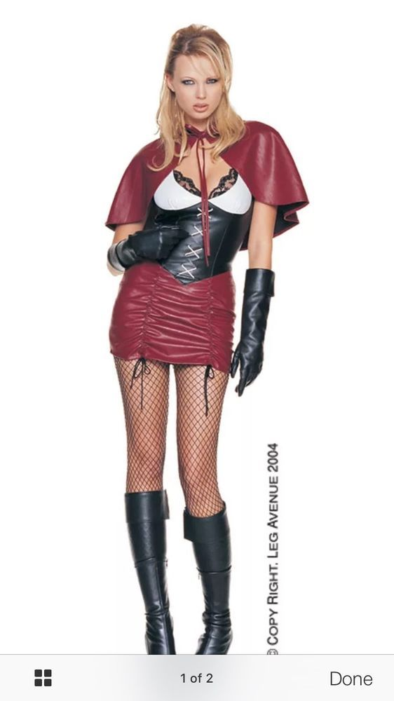 Leg Avenue Sexy Dark Little Red Riding Hood Costume Cosplay Role Play One Size #LegAvenue #CompleteOutfit #Halloween