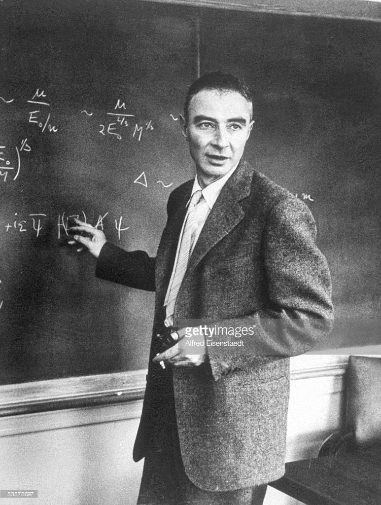 Oppenheimer Quote Jrobert Oppenheimer Working Out Physics Equation  Equation