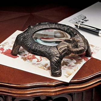 Larger than Life, Elephant Magnifying Glass $16.95