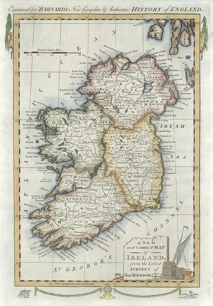 Vintage Map Of Ireland Map Of Britain Vintage Map Old Maps
