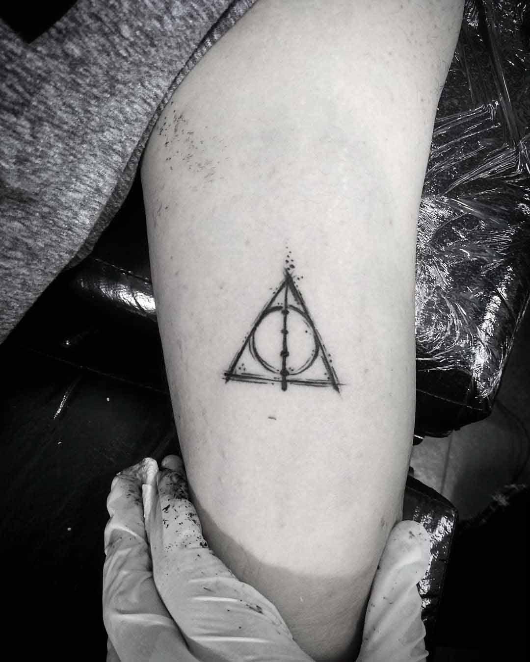 Elder Wand Tattoo Deathly Hallows