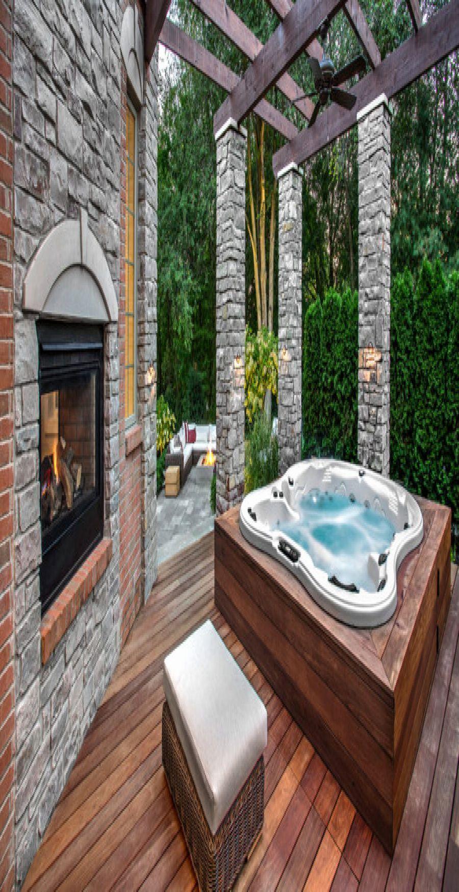 Inspirational Garden Design Ideas With Hot Tub Hottubdeck Inspirational Garden Design Garden Hot Hottubdeck Hot Tub Patio Hot Tub Deck Hot Tub Designs