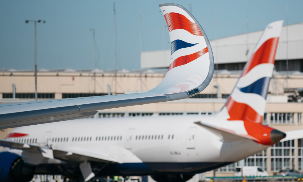 British Airways' first A350 lands in London as carrier
