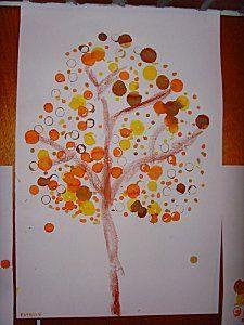 arbre automne tamponner ecole graphisme arts visuels pinterest arbre automne automne. Black Bedroom Furniture Sets. Home Design Ideas