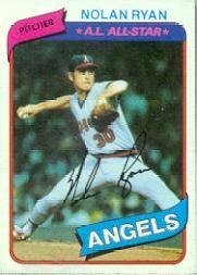 1980 Topps #580 Nolan Ryan
