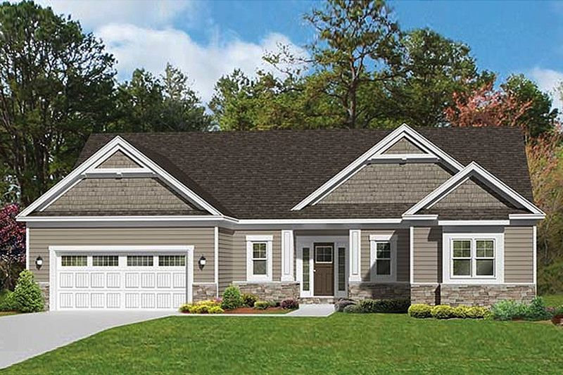 Ranch Style House Plan 3 Beds 2 5 Baths 1796 Sq Ft Plan 1010 101 Craftsman Style House Plans Ranch Style House Plans Ranch House Exterior