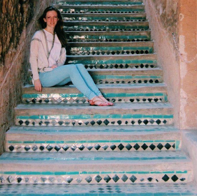 In love with these stairs at the Badi Palace in Marrakech  #ihavethisthingwithtiles #tilecrush  #tileseverywhere #tiles #morocco #lovemorocco #wanderlust #travel #instatravel #igtravel #igdaily #picoftheday #instagood #instalike #travelgram #travelphotography #lovetravel #beautiful #tourist #instapassport #dametraveler #traveltheworld #lifewelltravelled #earthpix #worldbestgram #wowplanet #mytinyatlas #girlstravel #tileaddiction #instatiles by rowan_flora
