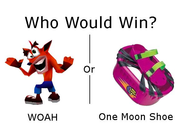 Woah Vs Moon Shoe Crash Bandicoot Woah Crash Bandicoot Bandicoot Crash Team Racing