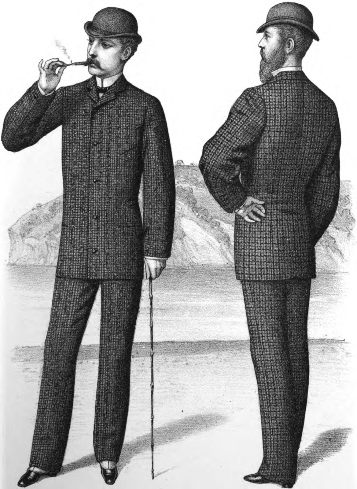 06c43647eac 1881-dated advertisement for late Victorian-era men s lounge suits. As one  can tell