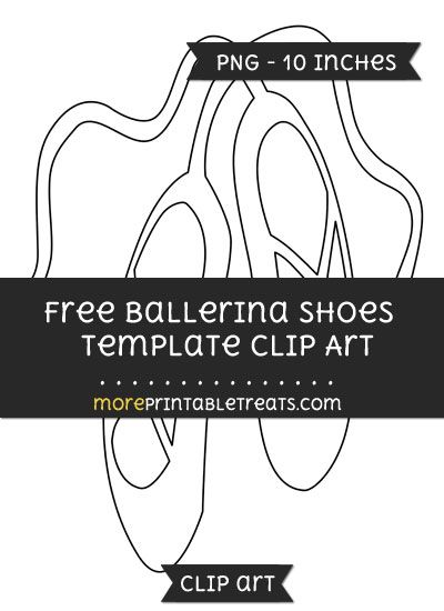 free ballerina shoes template clipart crafts pinterest