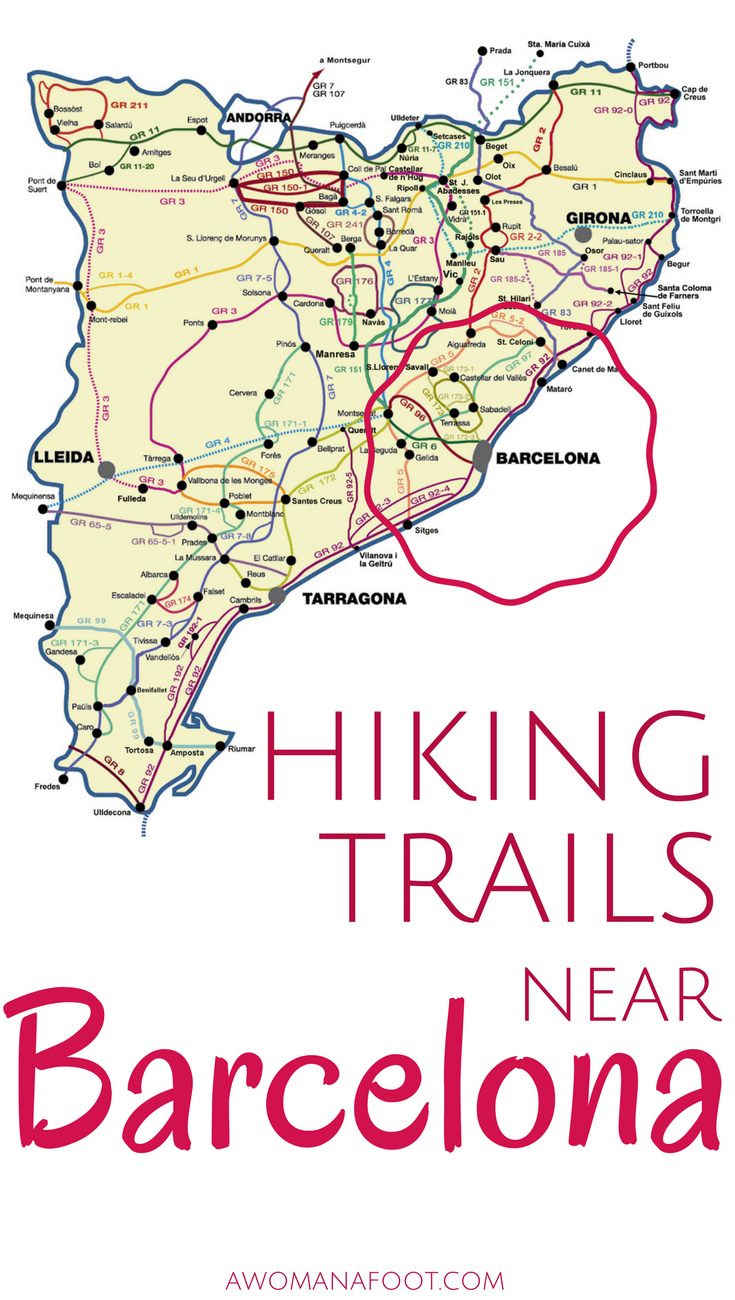 Map Of Spain Near Barcelona.Feb 6 Finding The Perfect Trail For Hiking Near Barcelona Spain
