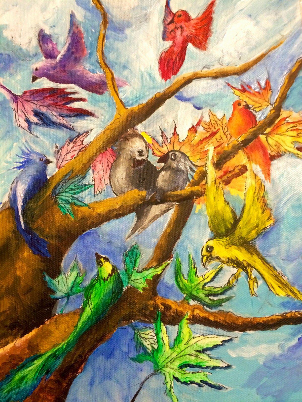 The Helpful Art Teacher Draw A Bird Day Steam In The