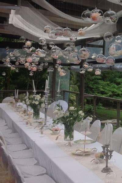 Floating Glass Motif Wedding Decorations Wedding Reception Flowers Wedding