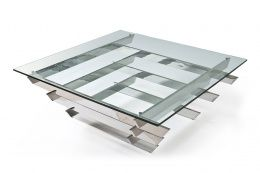 Luxor Glass Contemporary Coffee Table