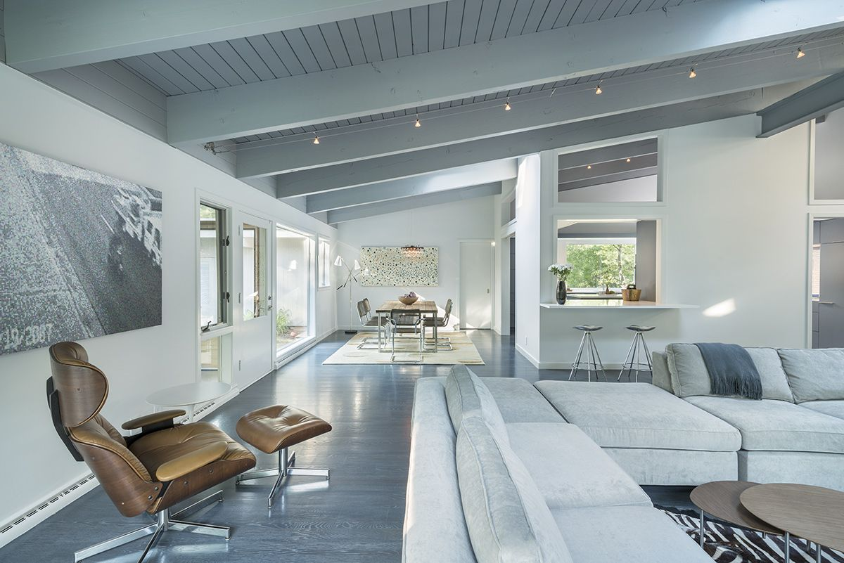 Open Plan Living, Dining, Mid-Century Modern House in Lincoln | Mid ...