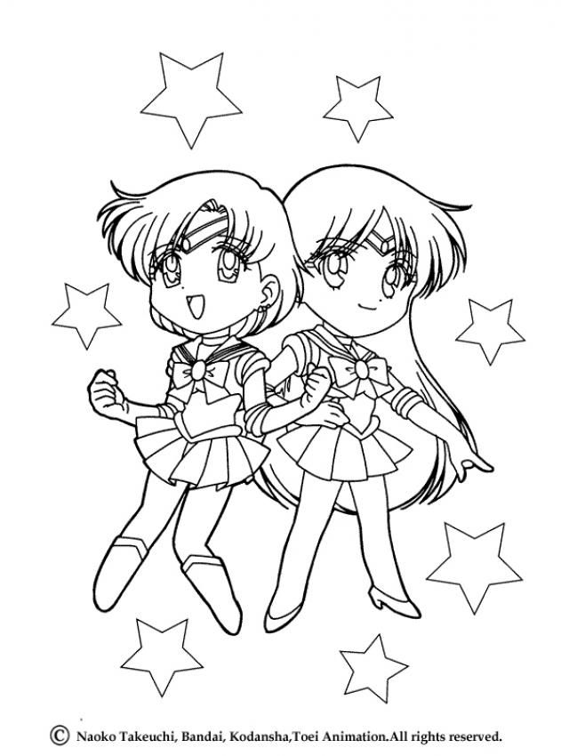 two little sailor friends coloring page hellokids fantastic collection of sailor moon coloring pages has lots of coloring pages to print out or color
