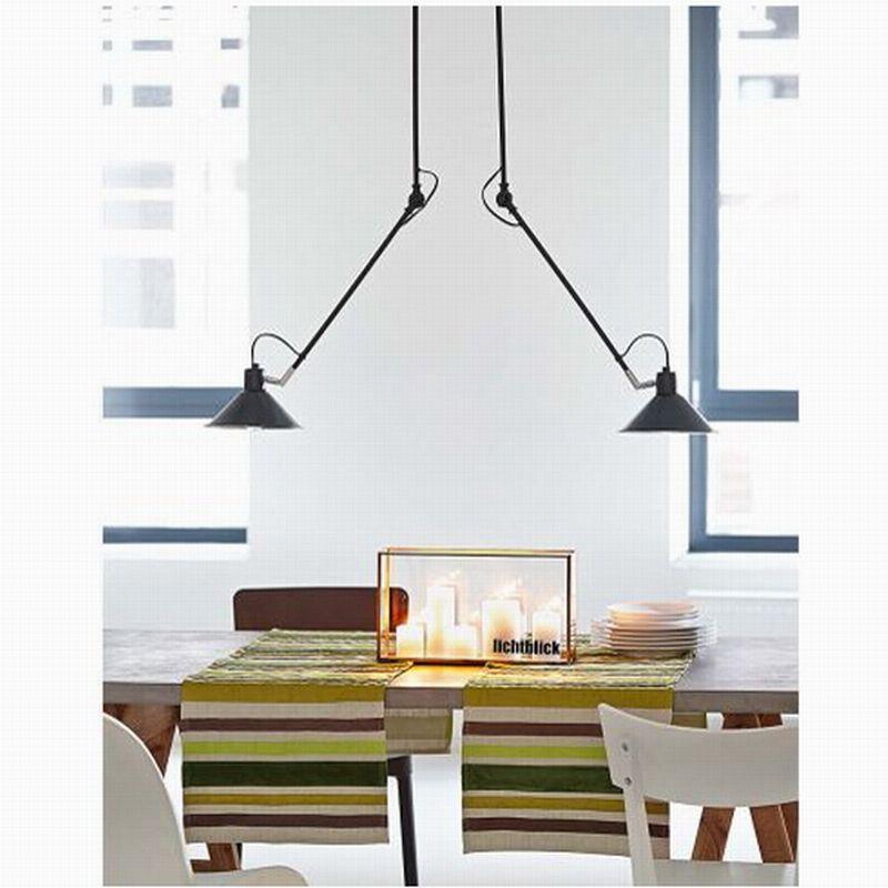 Modern Black 2 Arm Serge Mouille Pole Ceiling Lights Lamp/Fixture Luminaire  For Decor Ktchen Ceiling Lamps Fixture For Home Ind