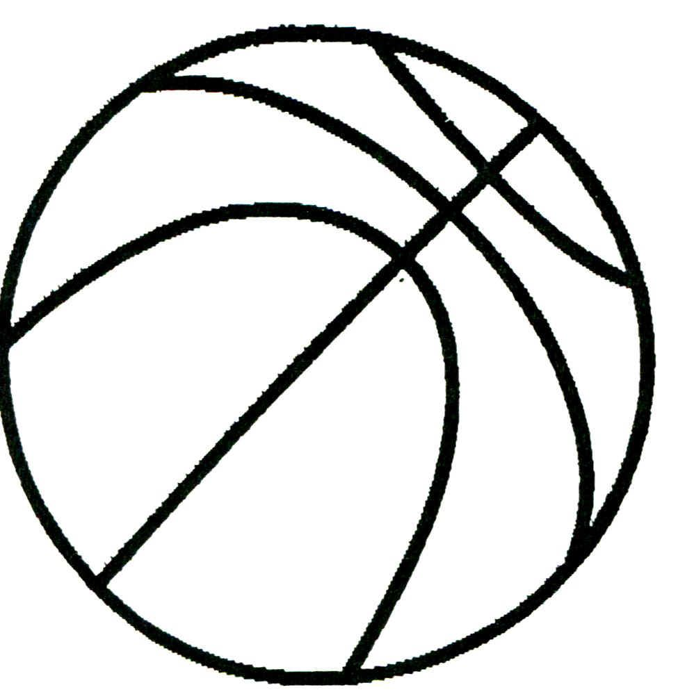 Printable Basketball Drawing Free Basketball Basketball Crafts