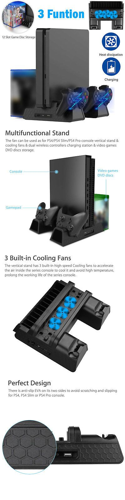 Cooling Devices 171898: For Ps4 Pro Slim Vertical Stand +