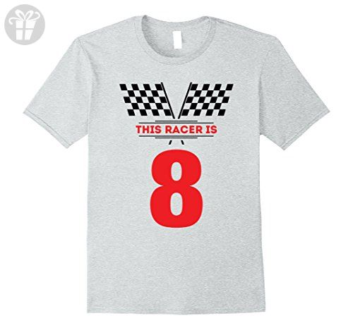 Mens Kids 8th Birthday Racing Gift T Shirt For 8 Year Old Boys Medium Heather