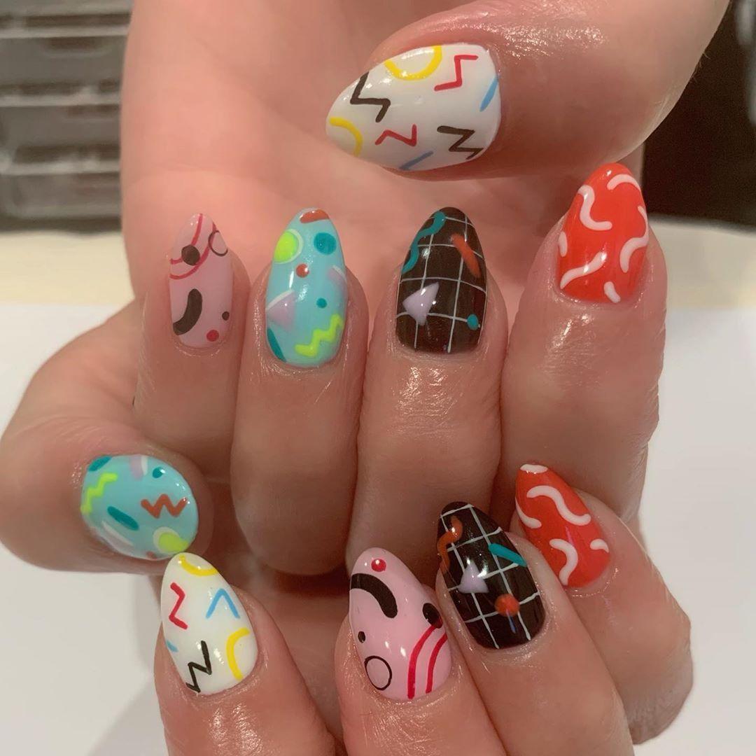 Summer Unique Nail Styles Nail Color Designs Ideas 2020 Colorful