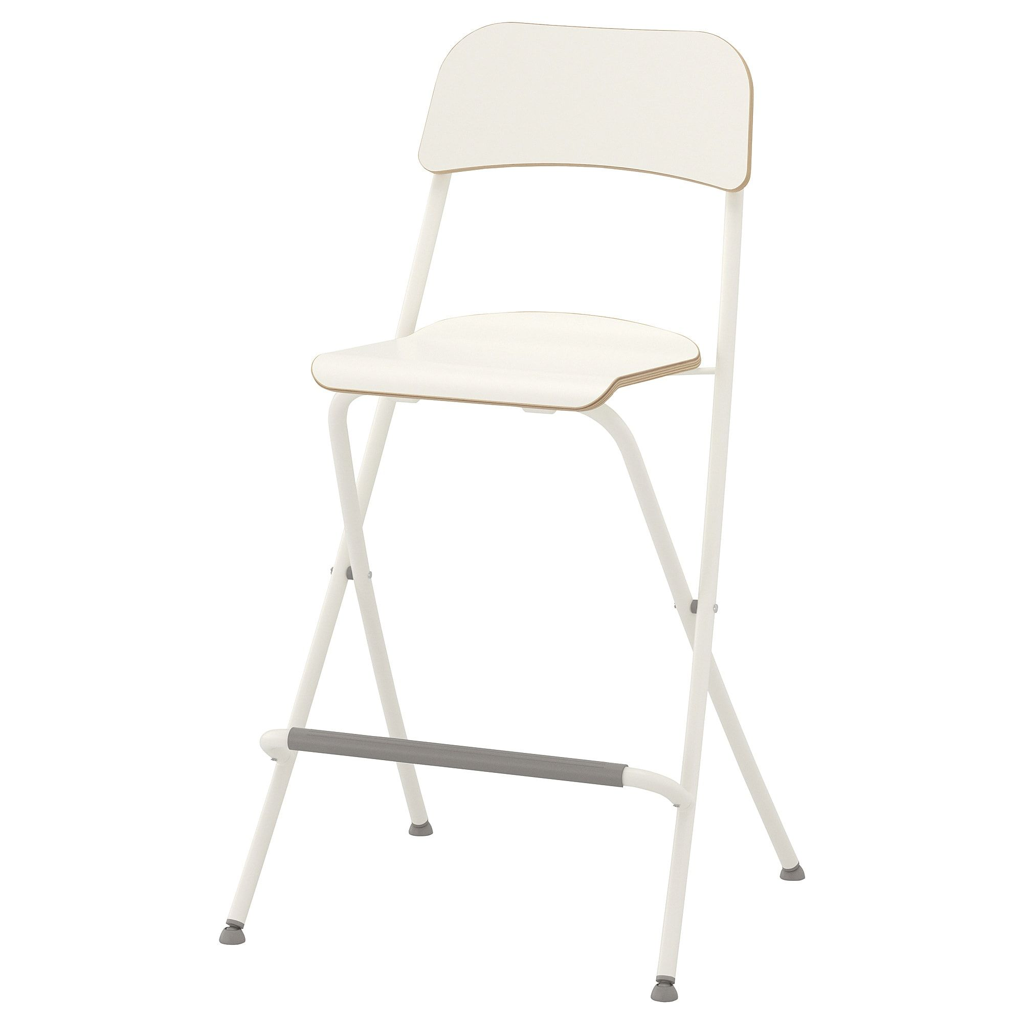 Cool Franklin Bar Stool With Backrest Foldable White White In Machost Co Dining Chair Design Ideas Machostcouk